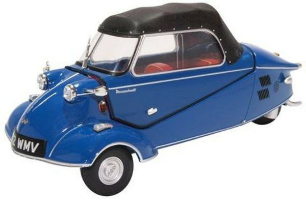 Oxford 18MBC006 MBC006 1/18 Scale Messerschmitt KR200 Bubble Car Royal Blue Open